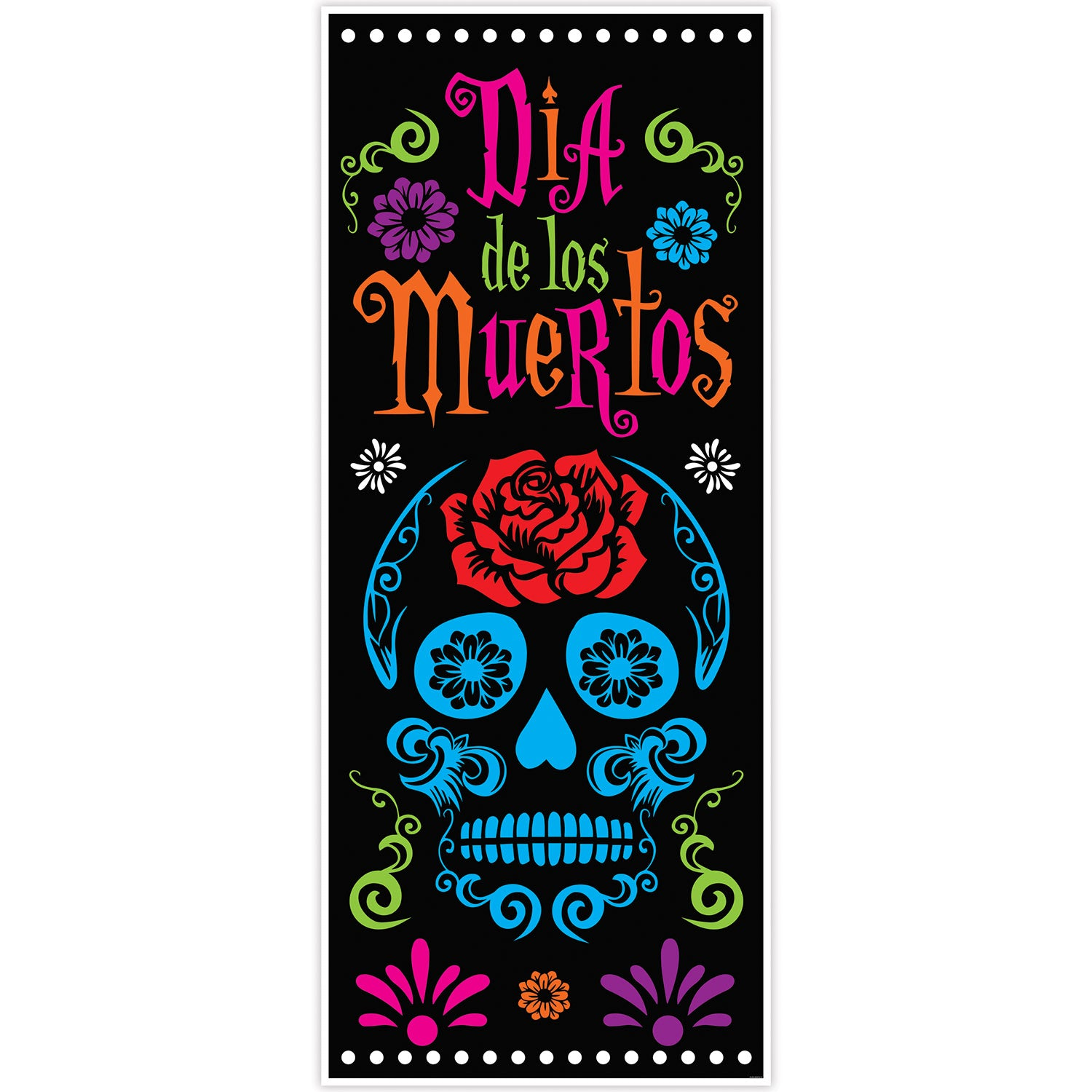 Day Of The Dead Door Cover by Beistle - Day of the Dead Theme Decorations