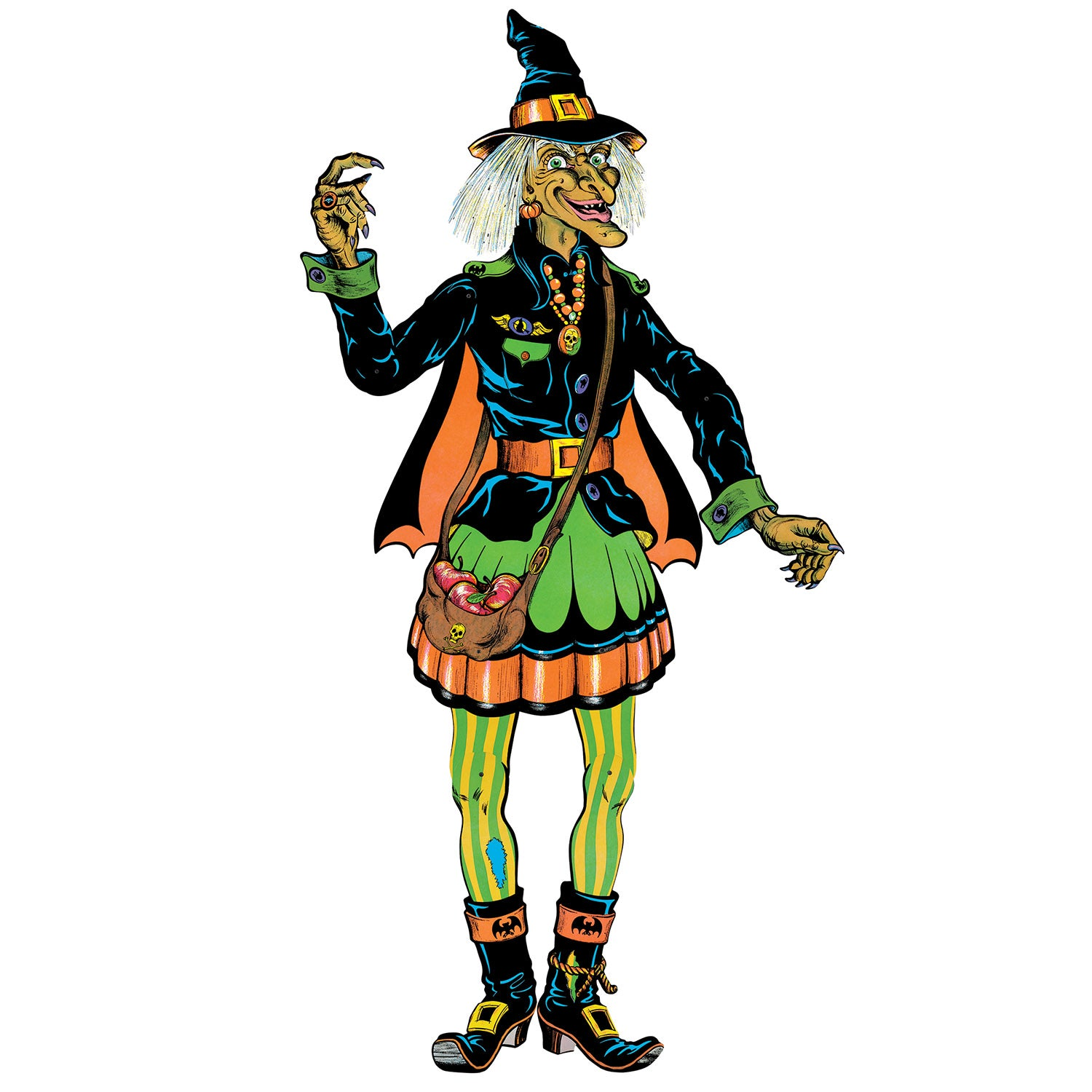 Vintage Halloween Jointed Witch by Beistle - Halloween Theme Decorations