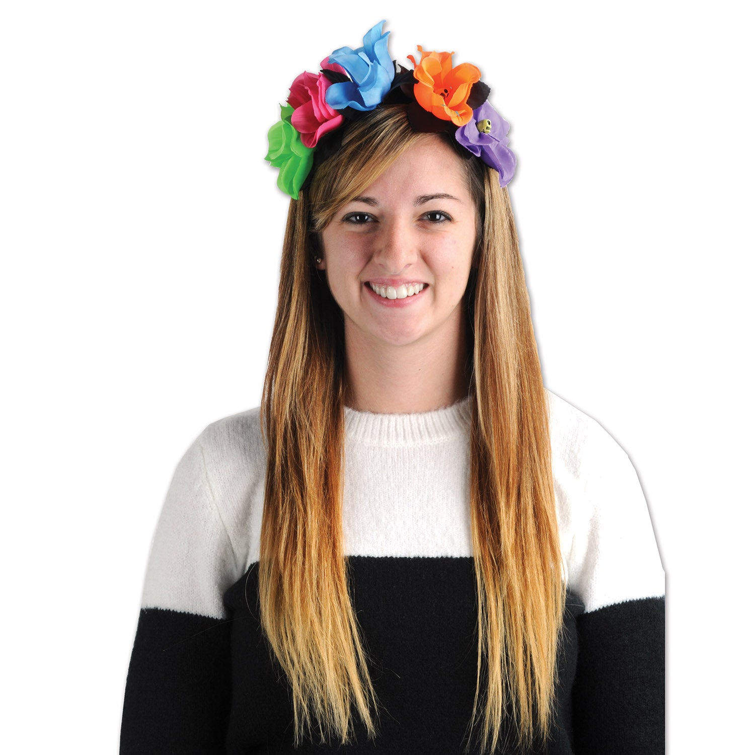 Day Of The Dead Flower Headband by Beistle - Day of the Dead Theme Decorations