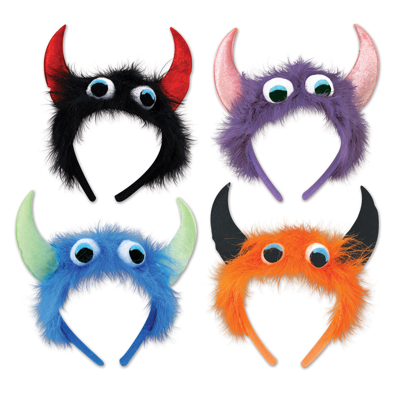 Monster Headbands by Beistle - Halloween Theme Decorations