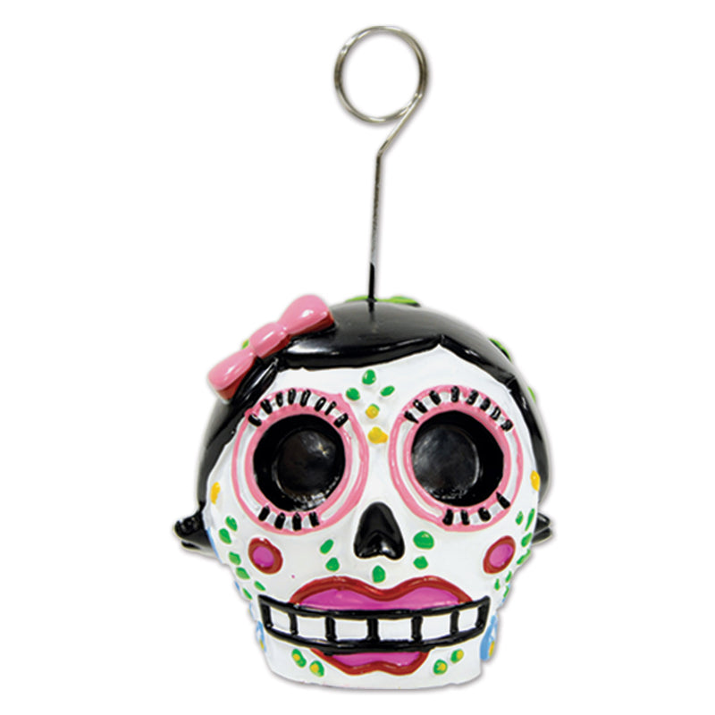 Day Of The Dead Female Photo/Balloon Holder by Beistle - Day of the Dead Theme Decorations
