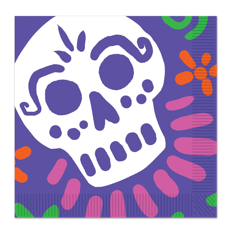 Day Of The Dead Luncheon Napkins (16/Pkg) by Beistle - Day of the Dead Theme Decorations