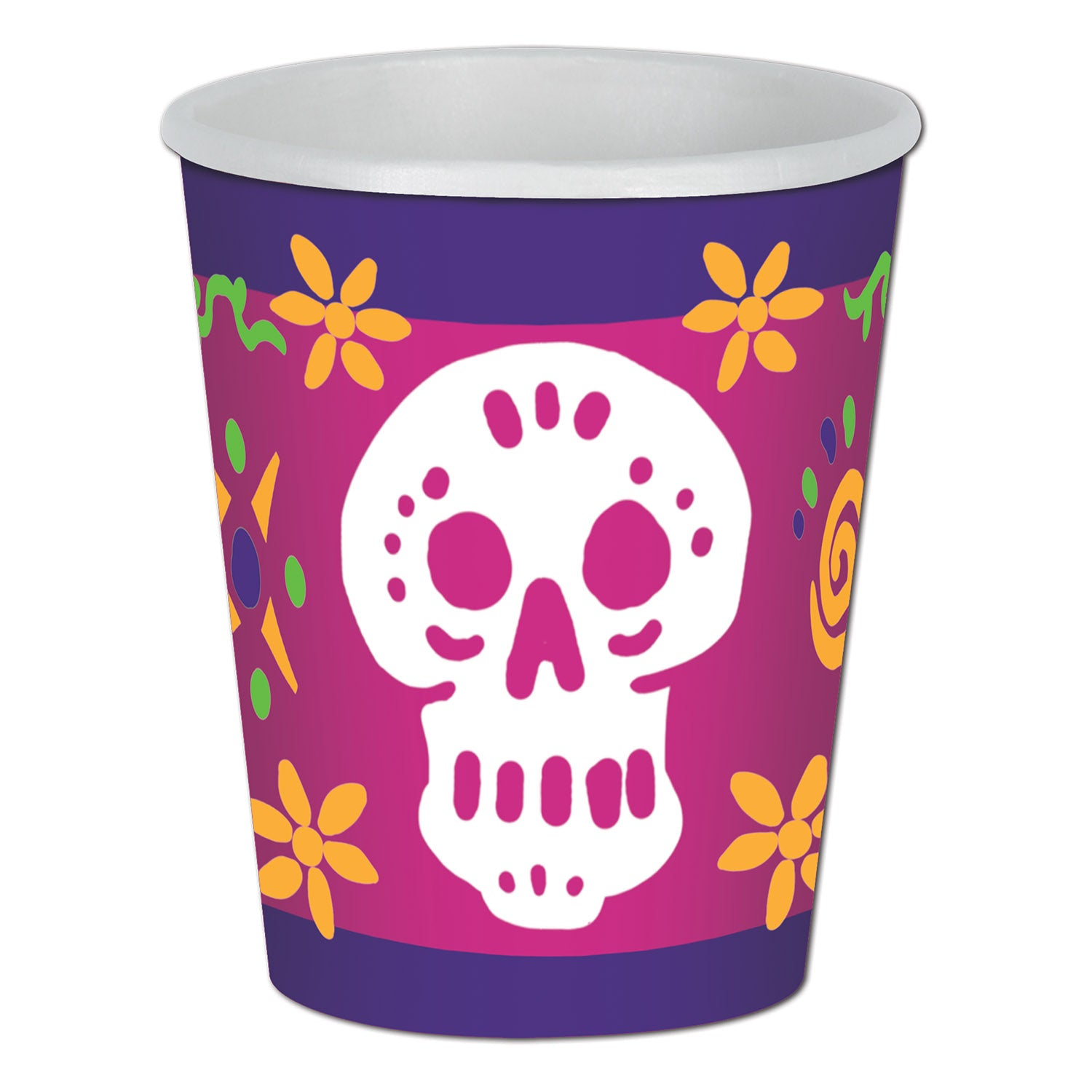 Day Of The Dead Beverage Cups (8/Pkg) by Beistle - Day of the Dead Theme Decorations