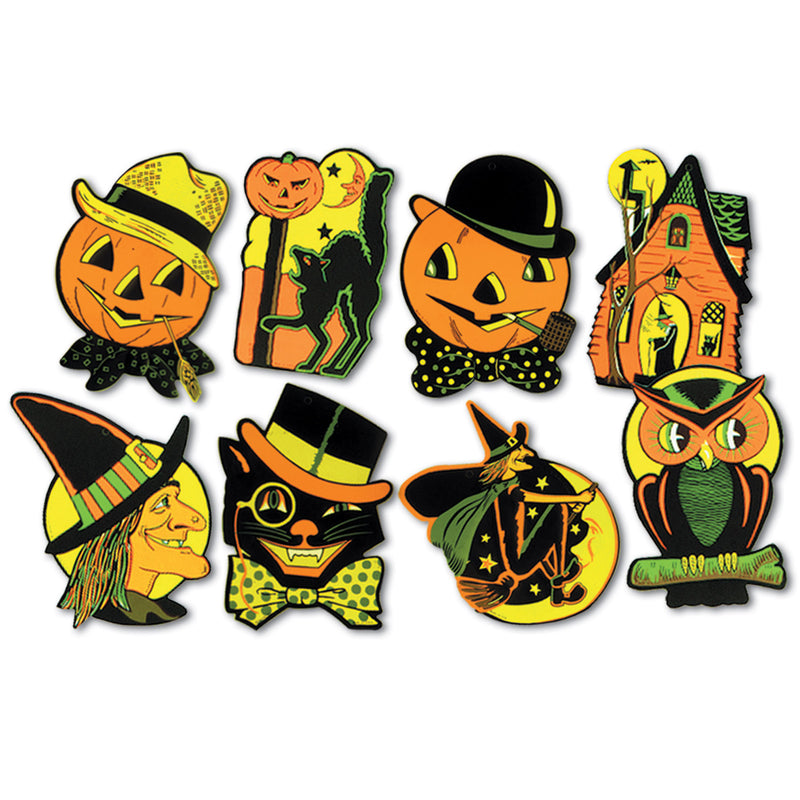 Packaged Halloween Cutouts (4/Pkg) by Beistle - Halloween Theme Decorations