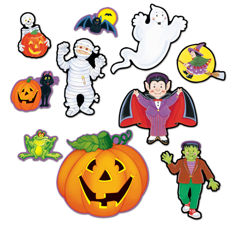 Halloween Cutouts (10/Pkg) by Beistle - Halloween Theme Decorations