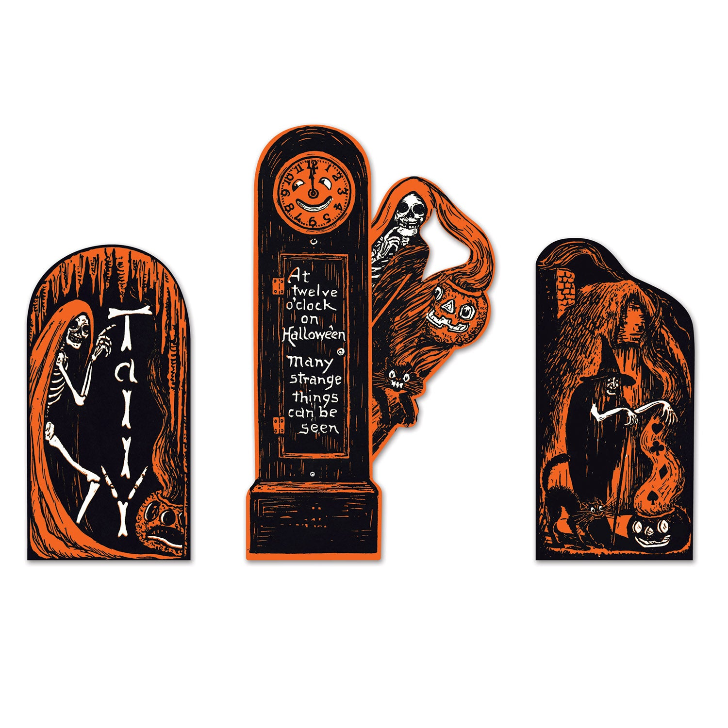 Vintage Halloween Invitation Cutouts (3/Pkg) by Beistle - Halloween Theme Decorations