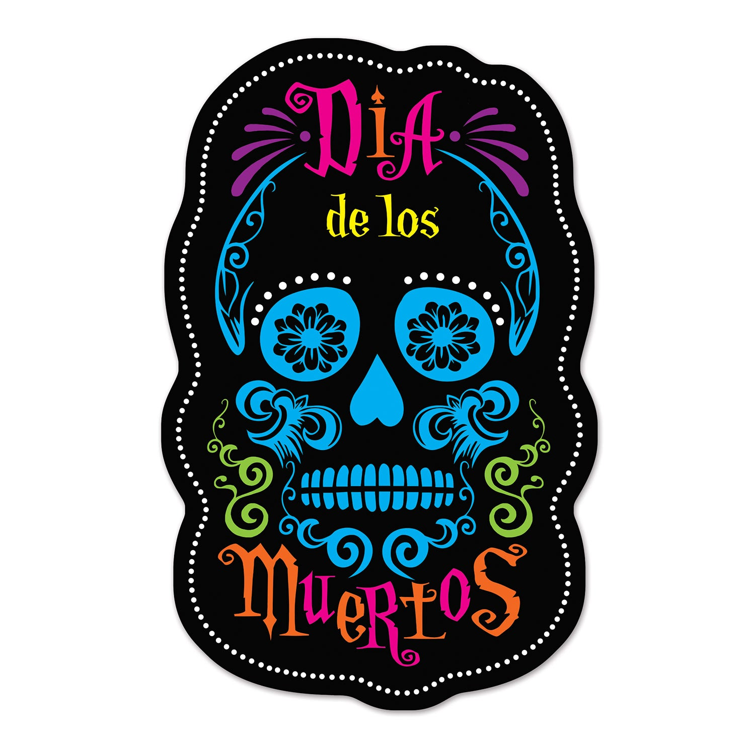 Day Of The Dead Sign Cutouts (2/Pkg) by Beistle - Day of the Dead Theme Decorations