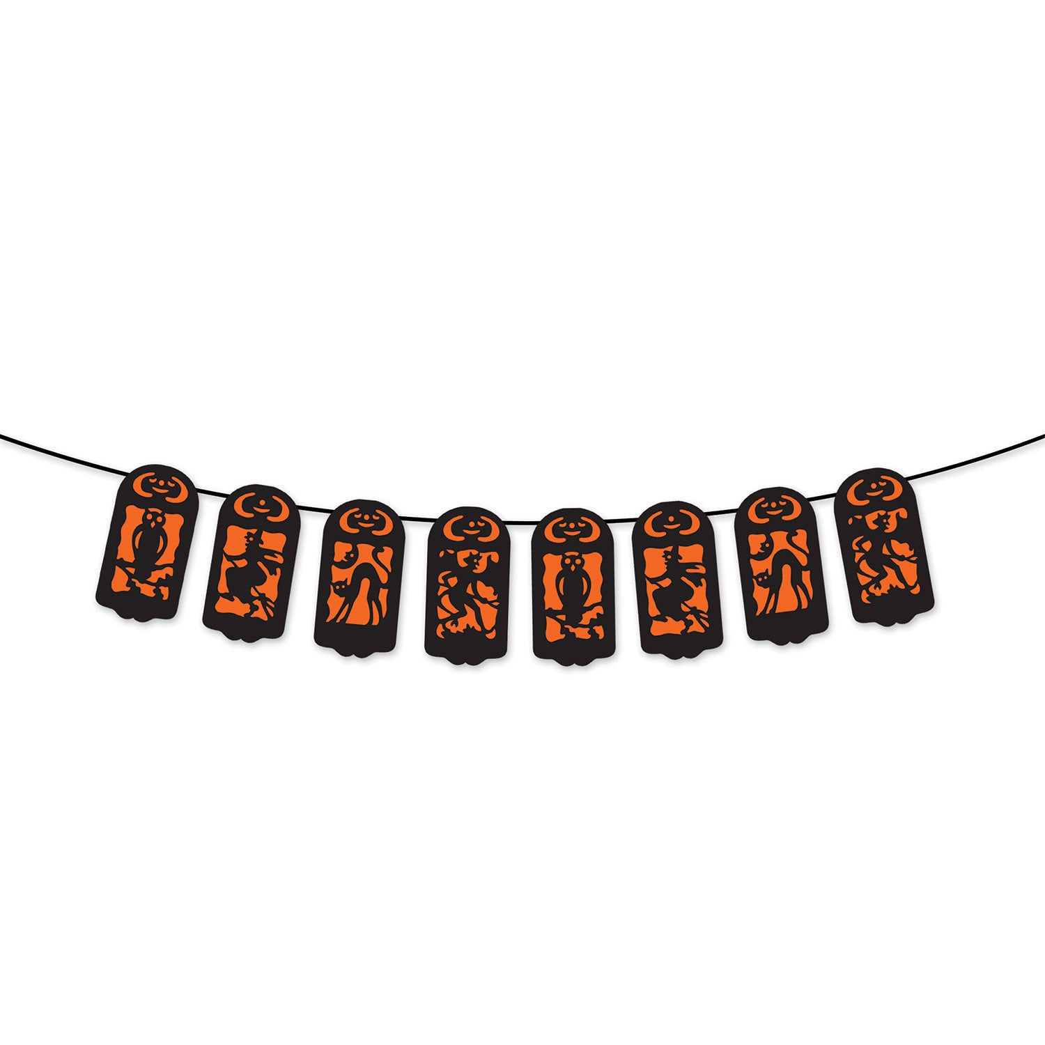 Vintage Halloween String Banner by Beistle - Halloween Theme Decorations