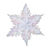 Metallic Winter Snowflake, opalescent by Beistle - Winter and Christmas Theme Decorations