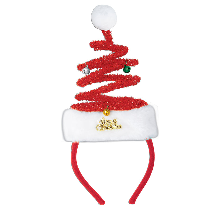 Springy Santa Headband by Beistle - Winter and Christmas Theme Decorations