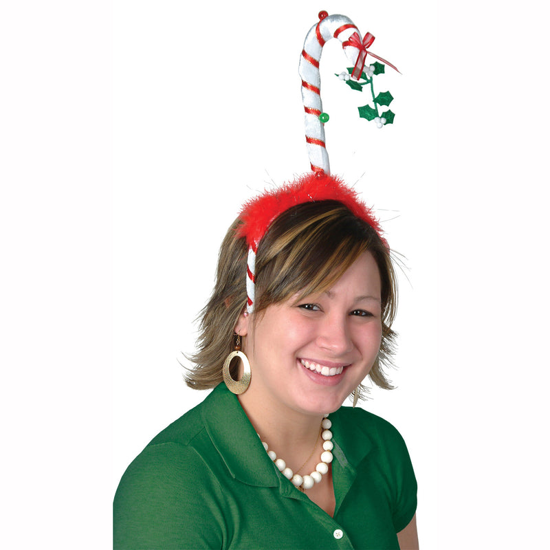 Mistletoe Candy Cane Bopper by Beistle - Winter and Christmas Theme Decorations