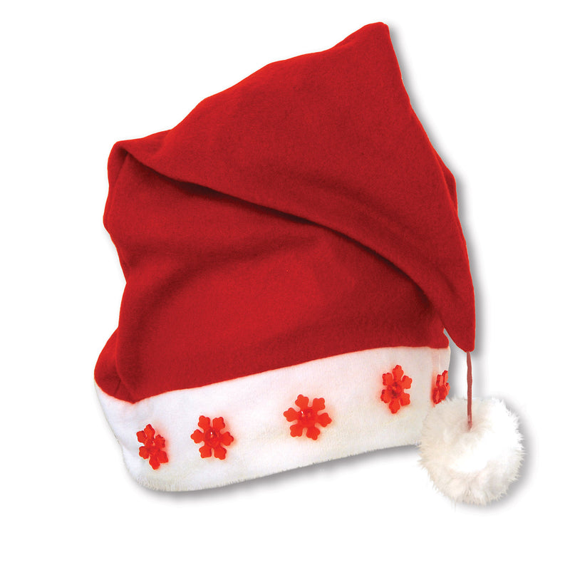 Light-Up Santa Hat by Beistle - Winter and Christmas Theme Decorations