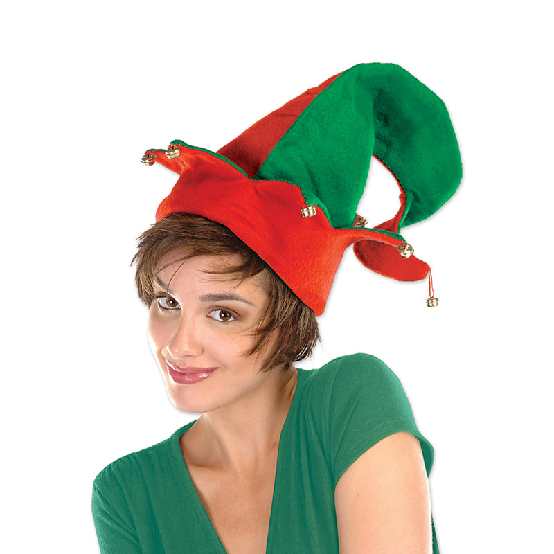 Felt Elf Hat w/Bells by Beistle - Winter and Christmas Theme Decorations