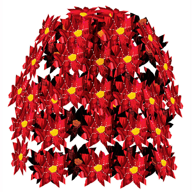 Poinsettia Cascade by Beistle - Winter and Christmas Theme Decorations