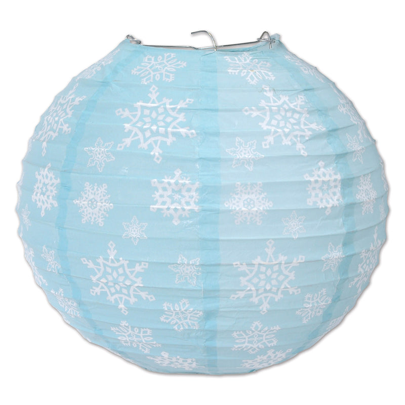 Snowflake Paper Lanterns (3/Pkg) by Beistle - Winter and Christmas Theme Decorations