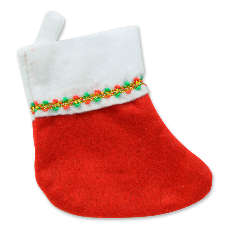 Mini Christmas Stockings (6/Pkg) by Beistle - Winter and Christmas Theme Decorations
