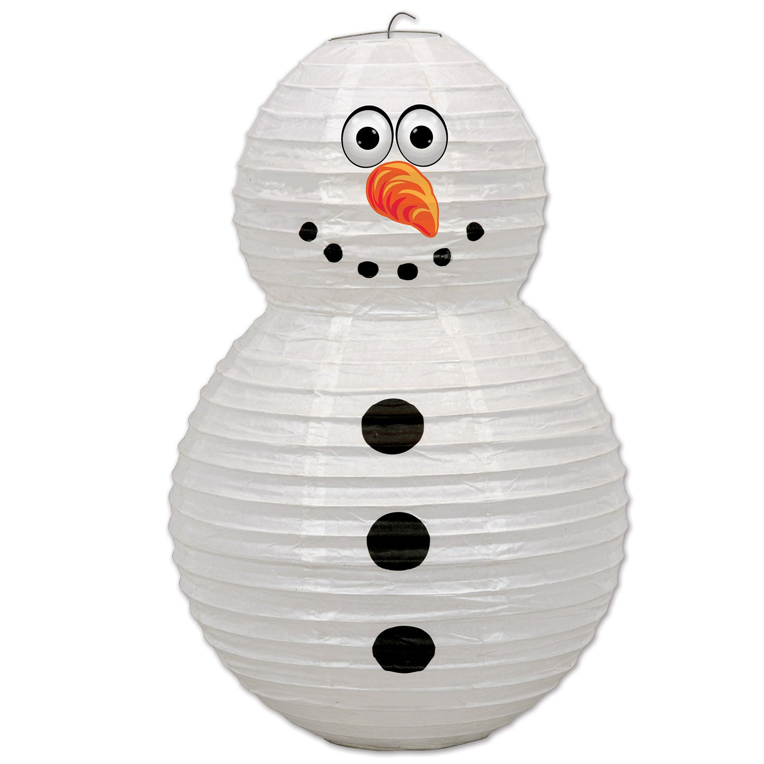 Snowman Paper Lantern by Beistle - Winter and Christmas Theme Decorations