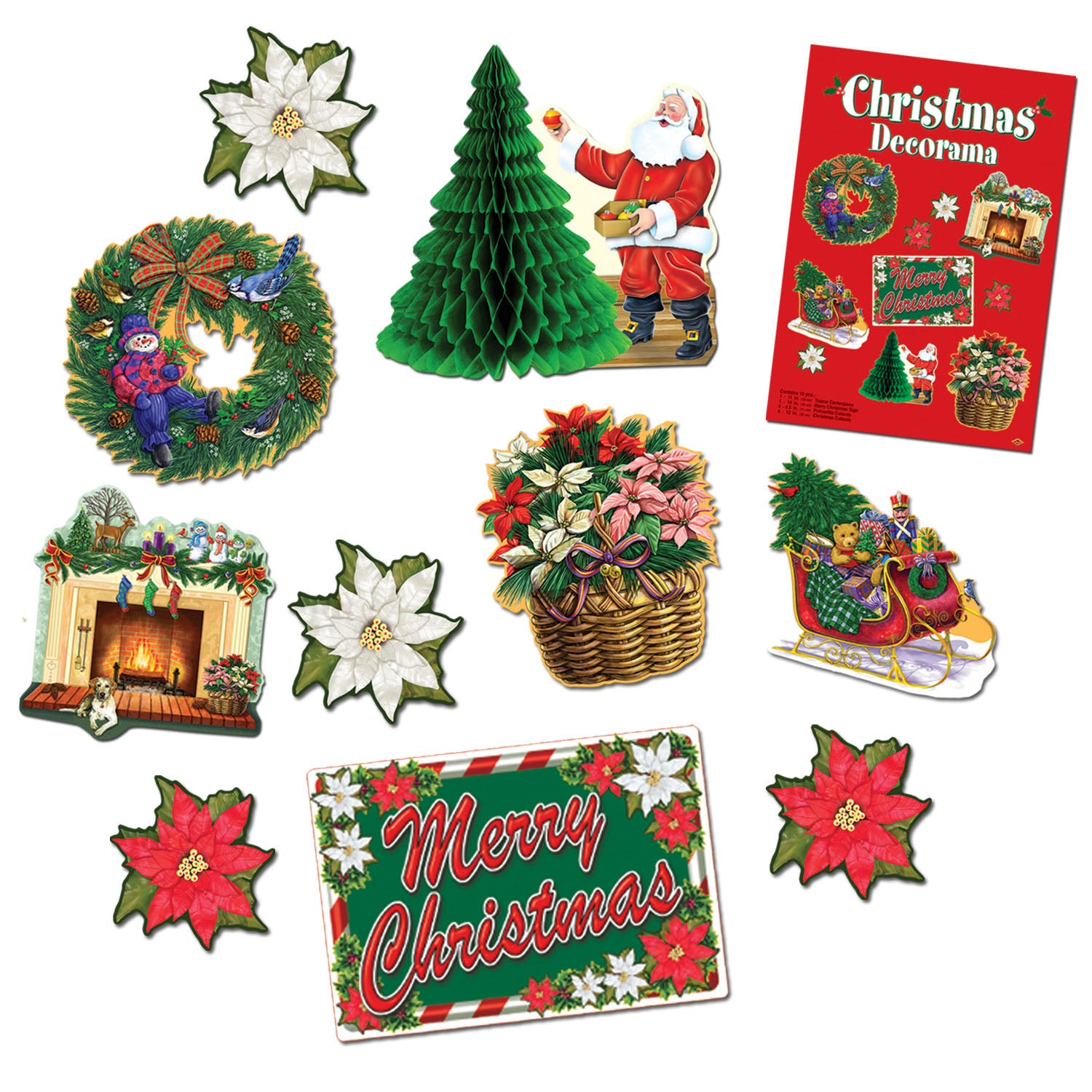 Christmas Decorama by Beistle - Winter and Christmas Theme Decorations