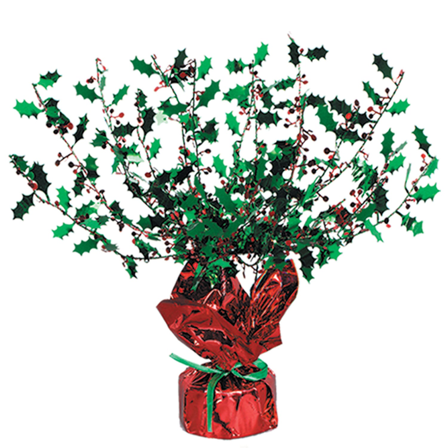 Holly & Berry Gleam 'N Burst Centerpiece by Beistle - Winter and Christmas Theme Decorations