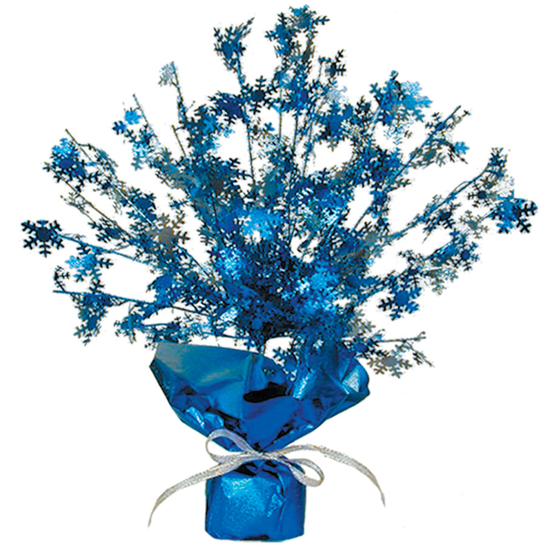 Snowflake Gleam 'N Burst Centerpiece by Beistle - Winter and Christmas Theme Decorations