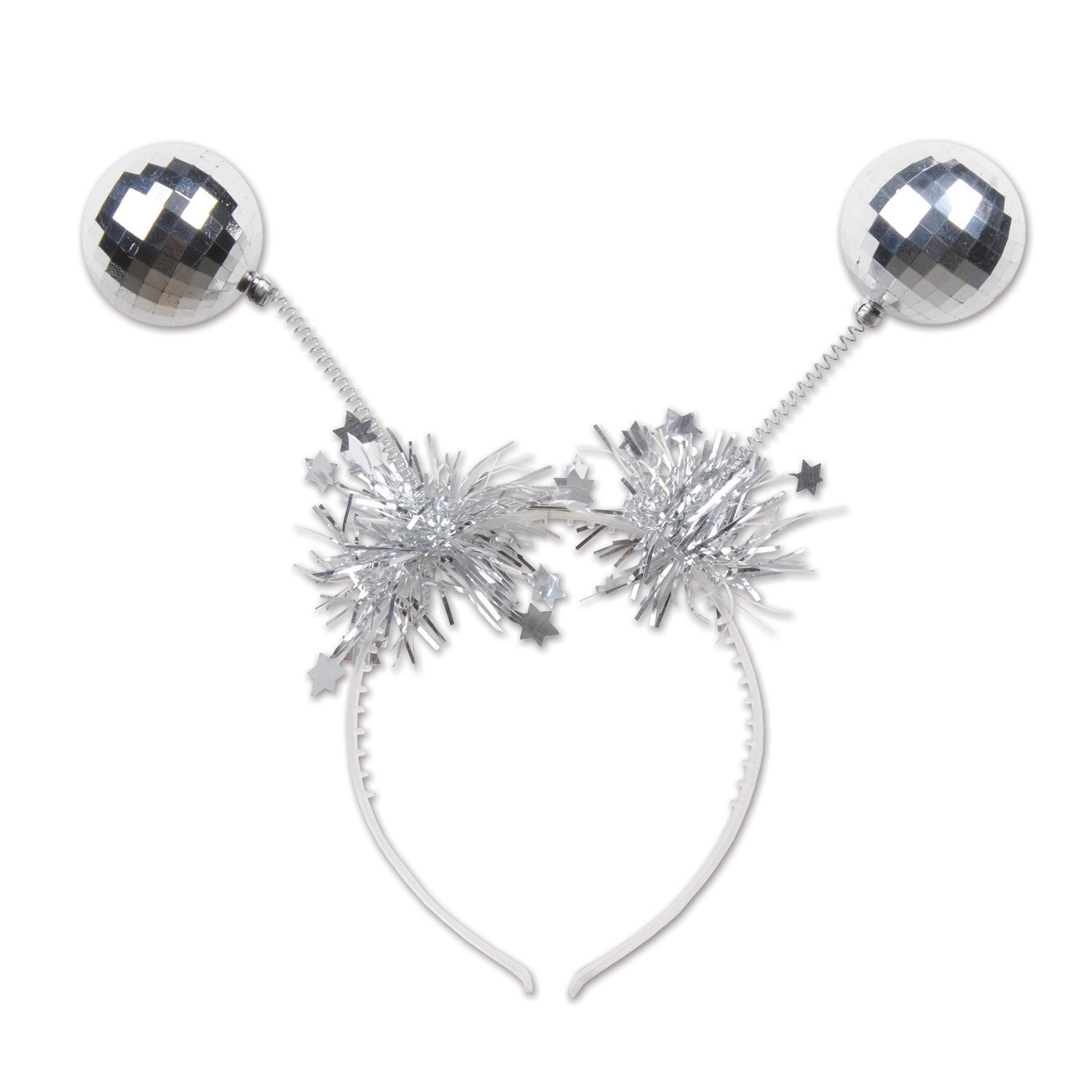 Silver Ball Boppers by Beistle - Winter and Christmas Theme Decorations
