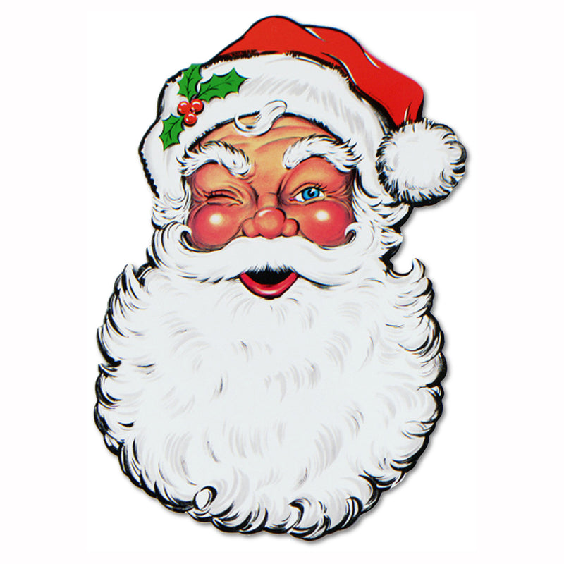 Display Santa Face Cutout by Beistle - Winter and Christmas Theme Decorations