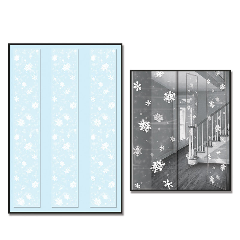 Snowflake Party Panels (3/Pkg) by Beistle - Winter and Christmas Theme Decorations