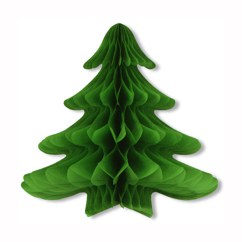 Tissue Hanging Christmas Tree by Beistle - Winter and Christmas Theme Decorations