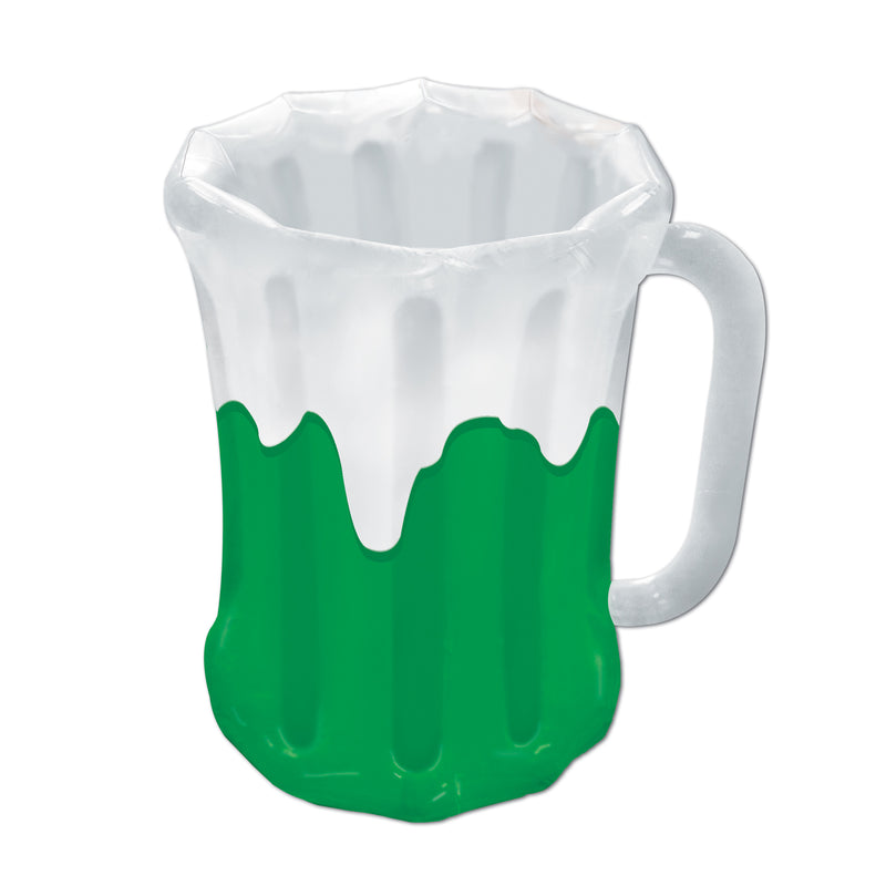 Inflatable Beer Mug Cooler by Beistle - St. Patricks Day Theme Decorations