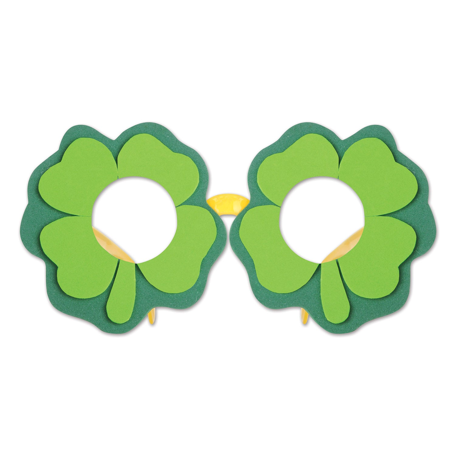 Shamrock Glasses by Beistle - St. Patricks Day Theme Decorations