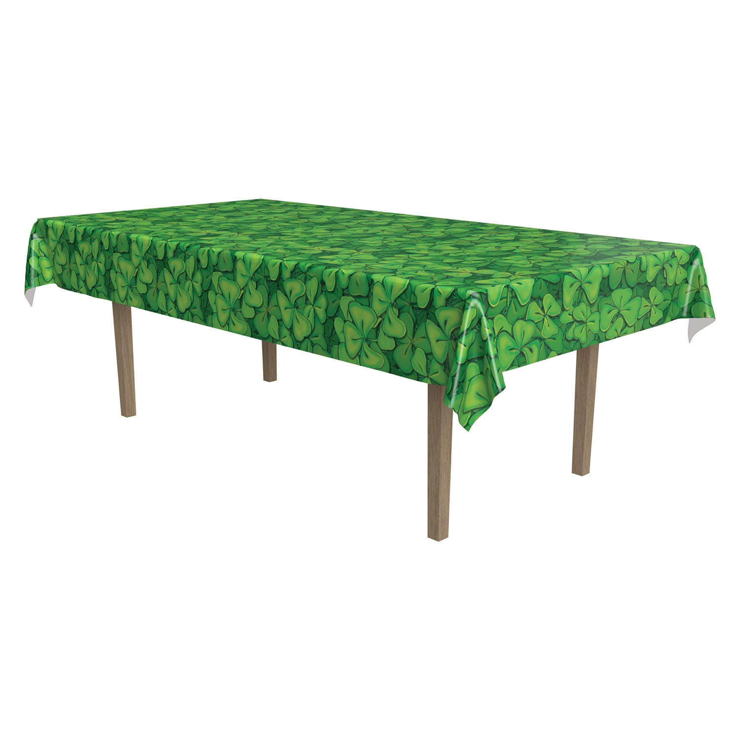 Shamrock Tablecover by Beistle - St. Patricks Day Theme Decorations