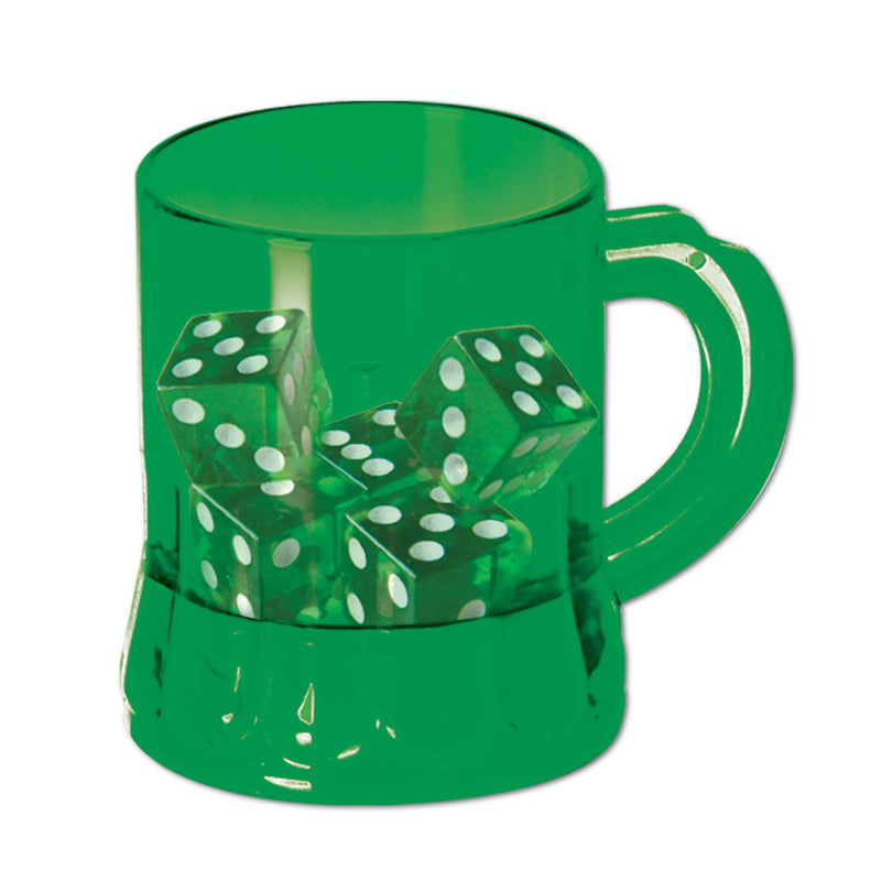 St Pat's Mug Shot w/Dice (6/Pkg) by Beistle - St. Patricks Day Theme Decorations