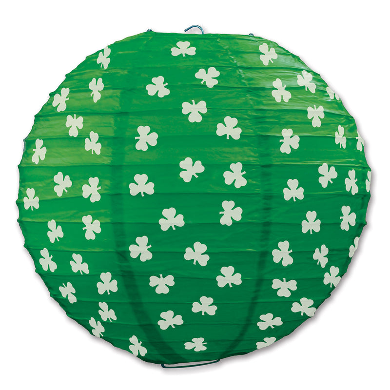 Shamrock Paper Lanterns (3/Pkg) by Beistle - St. Patricks Day Theme Decorations