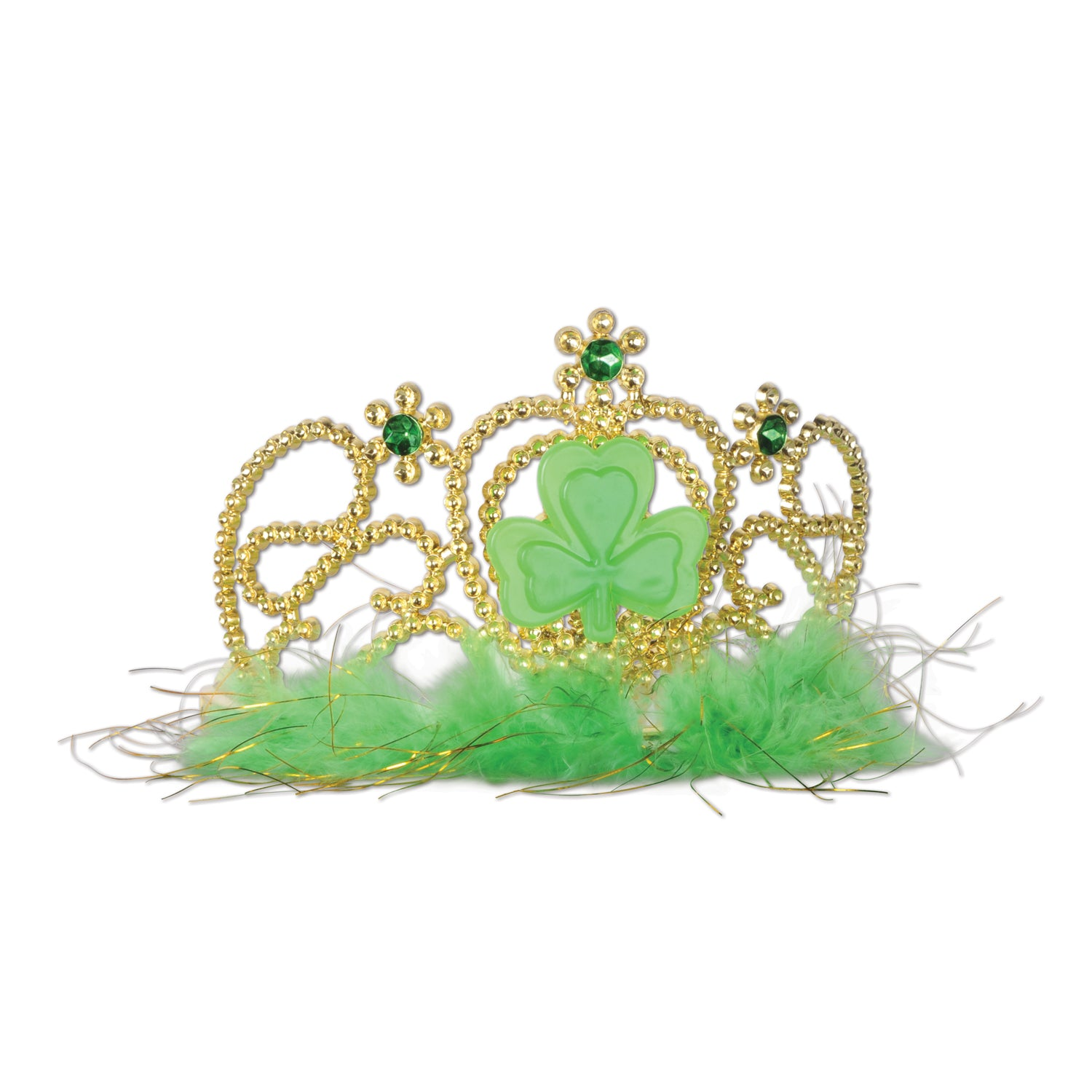 Plastic Shamrock Tiara by Beistle - St. Patricks Day Theme Decorations