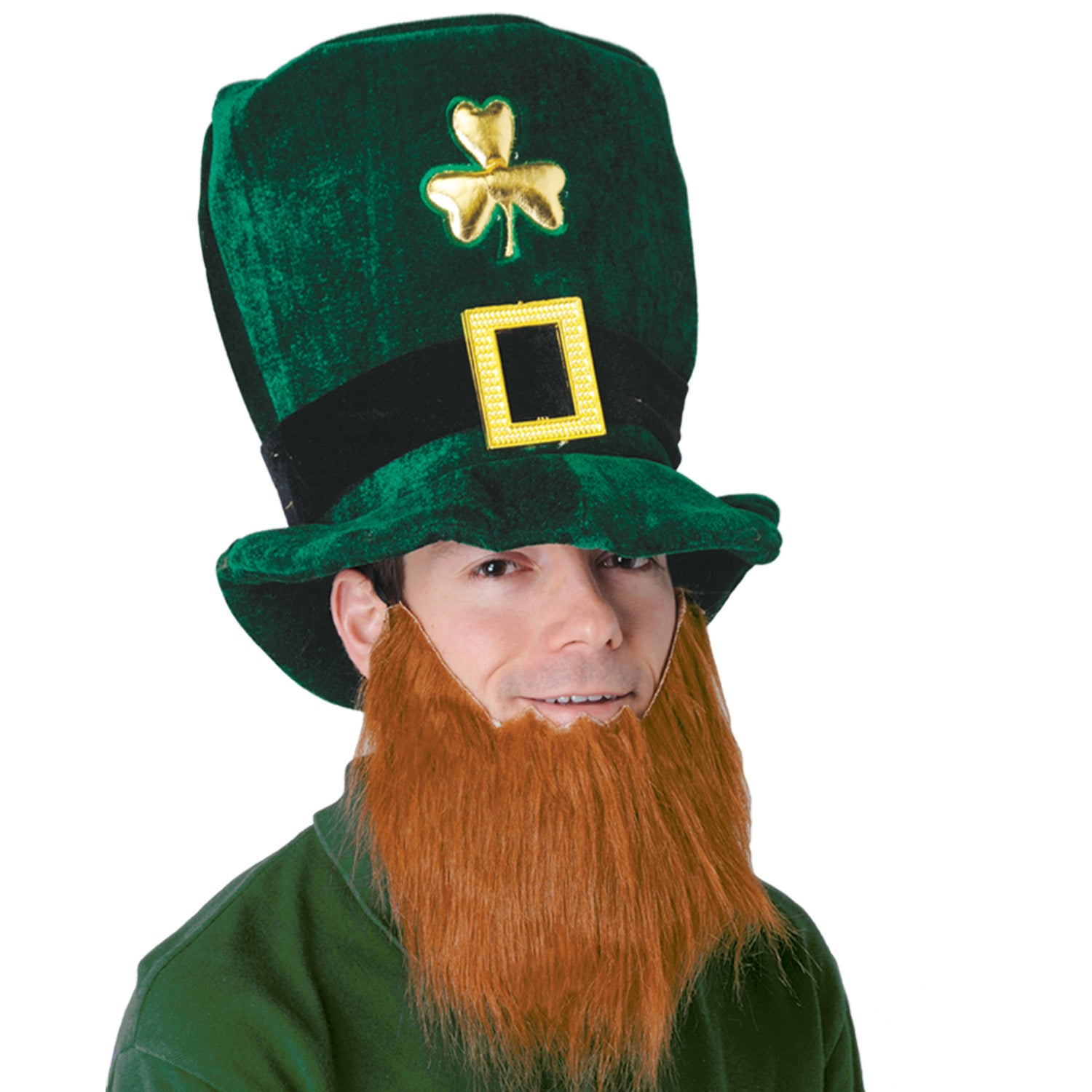 Plush Leprechaun Hat w/Beard by Beistle - St. Patricks Day Theme Decorations