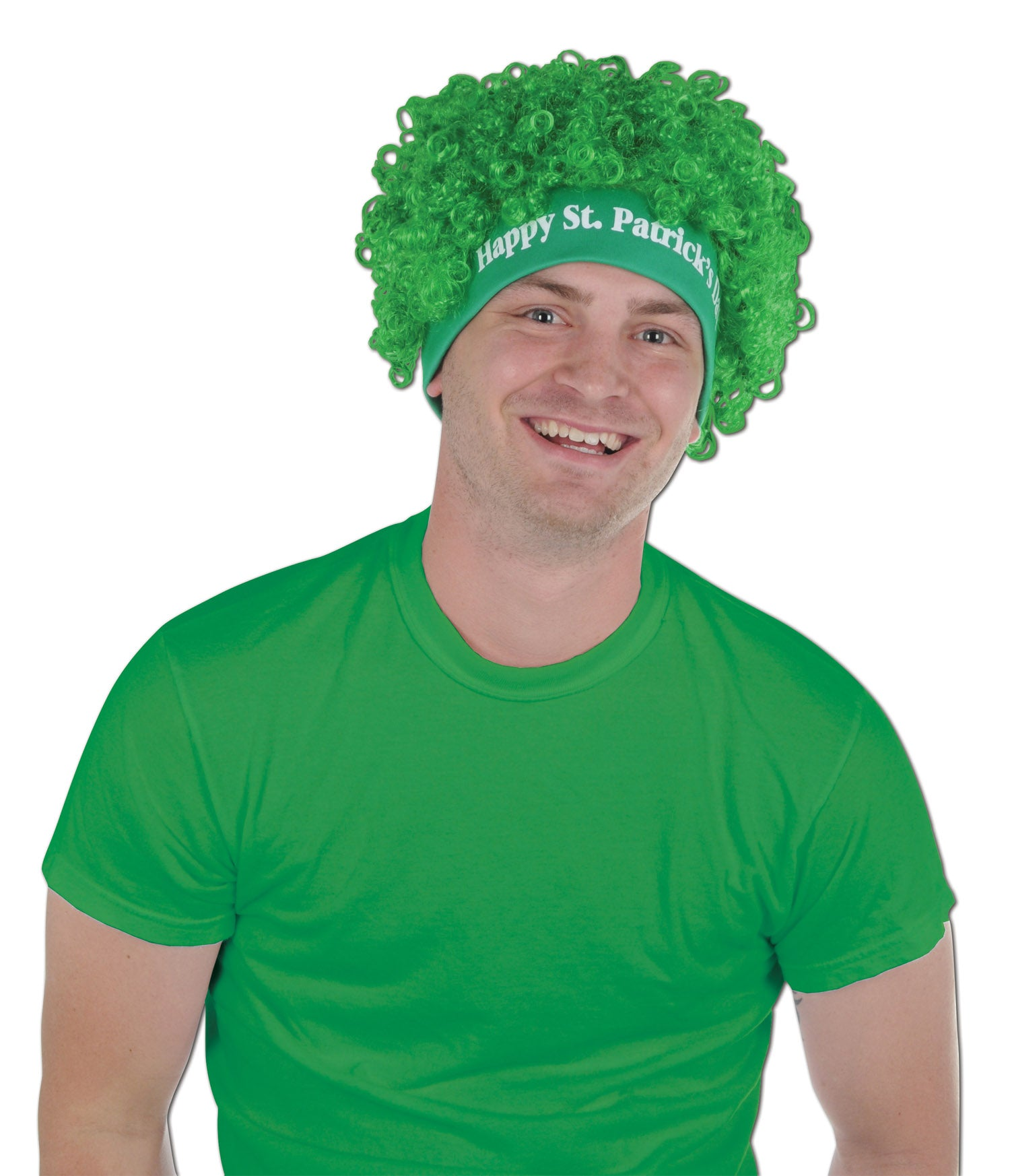 Happy St Patrick's Day Wig by Beistle - St. Patricks Day Theme Decorations