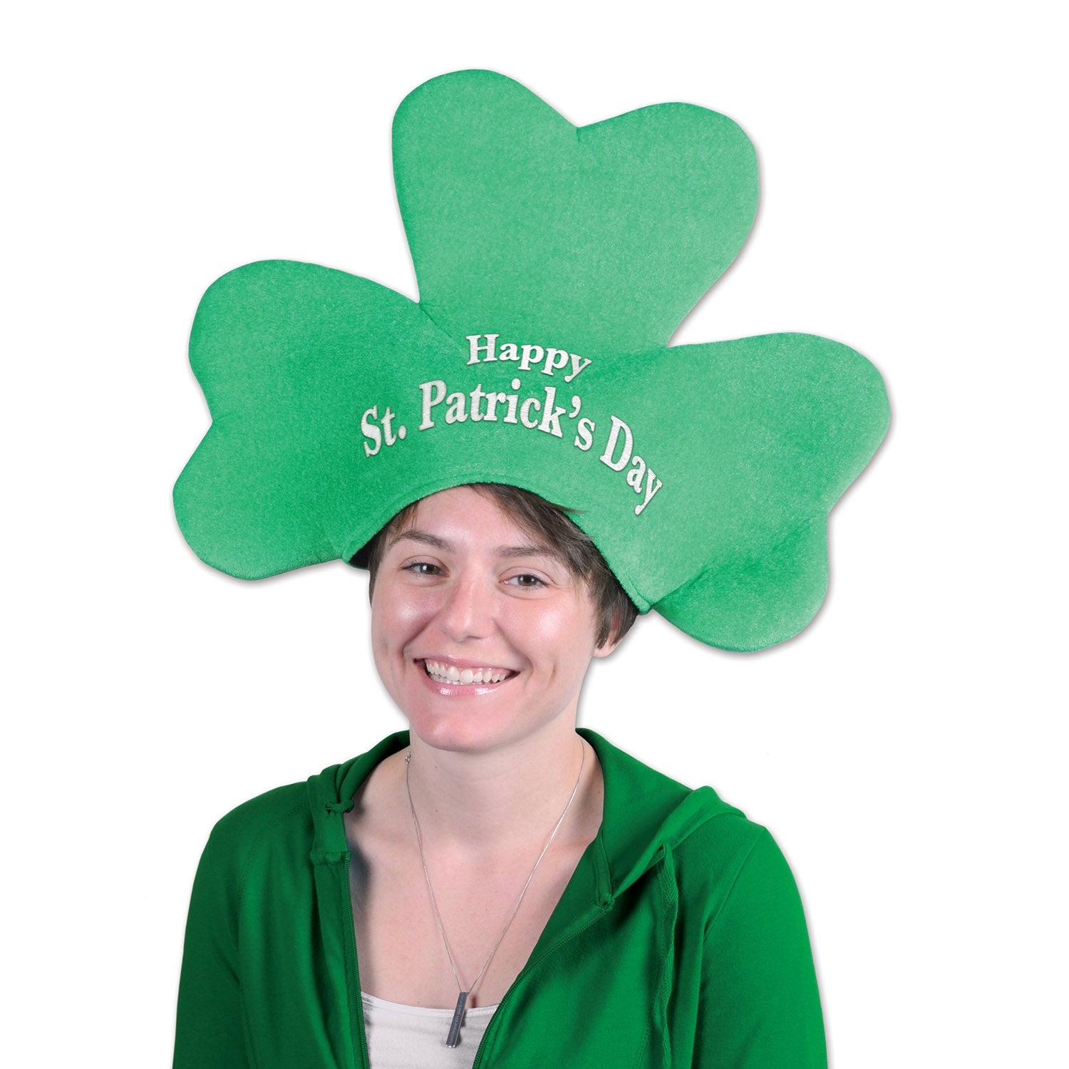 Plush St Patrick's Day Shamrock Hat by Beistle - St. Patricks Day Theme Decorations