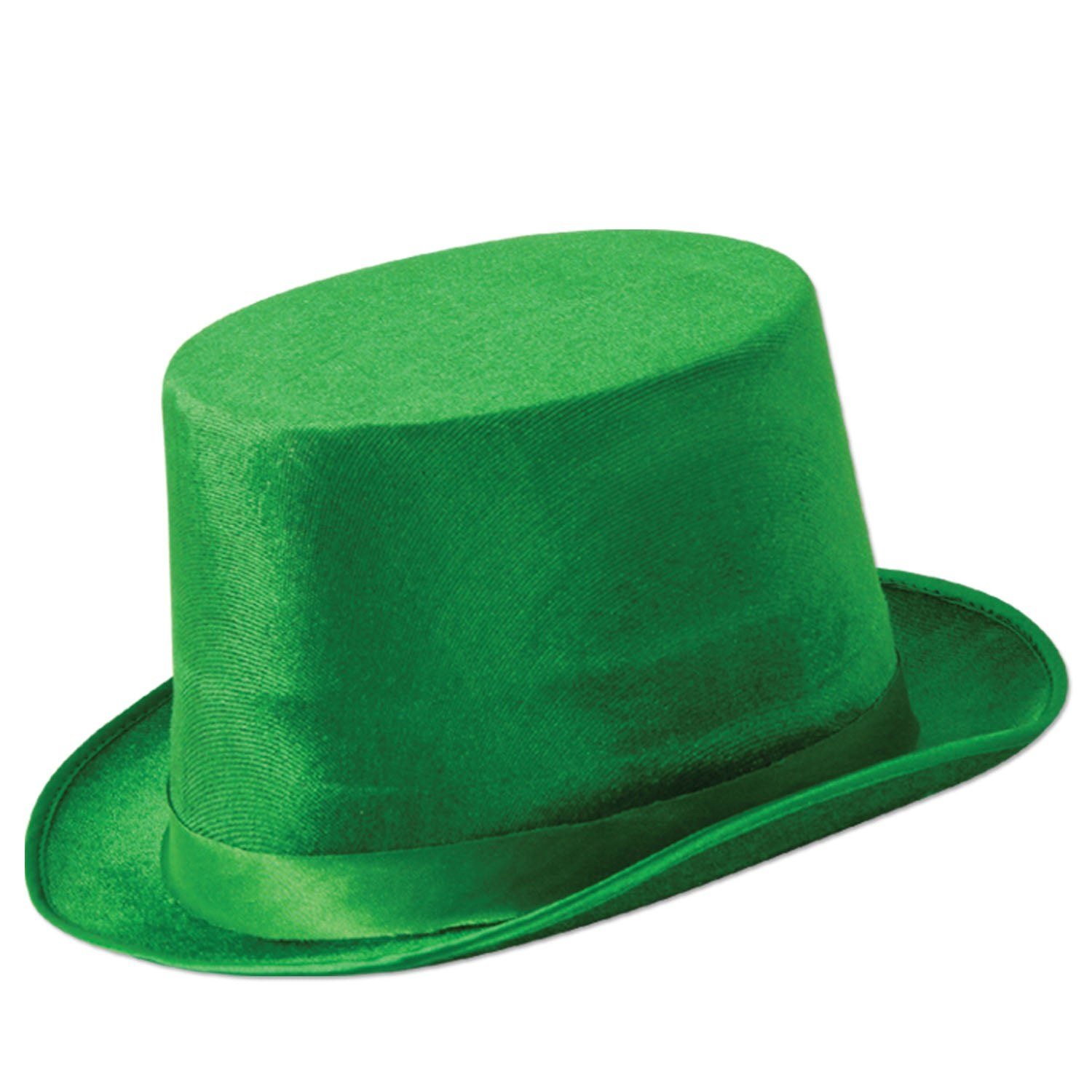 Green Vel-Felt Top Hat by Beistle - St. Patricks Day Theme Decorations