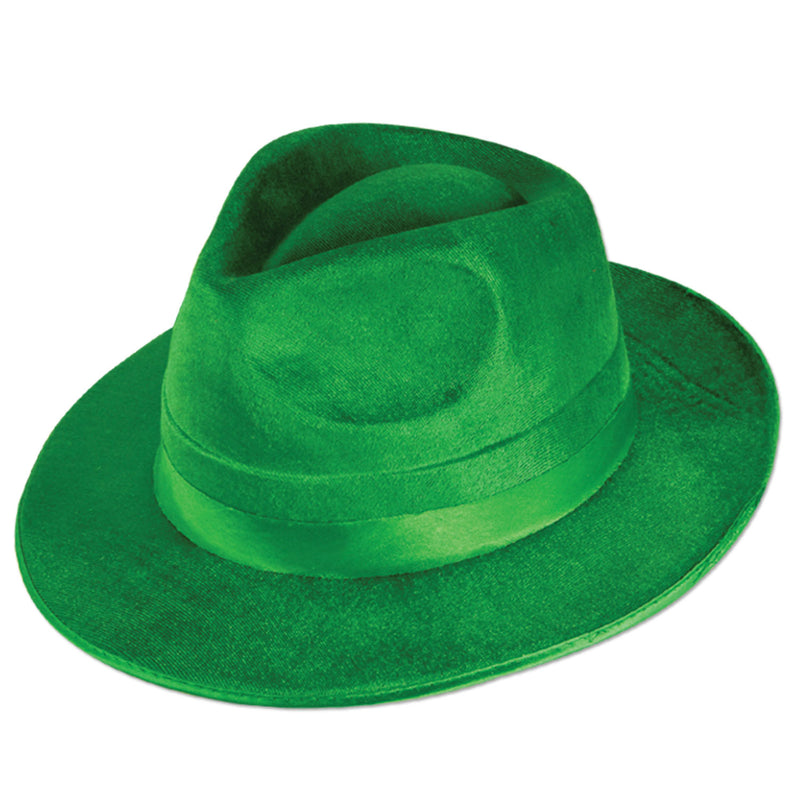 Green Vel-Felt Fedora by Beistle - St. Patricks Day Theme Decorations