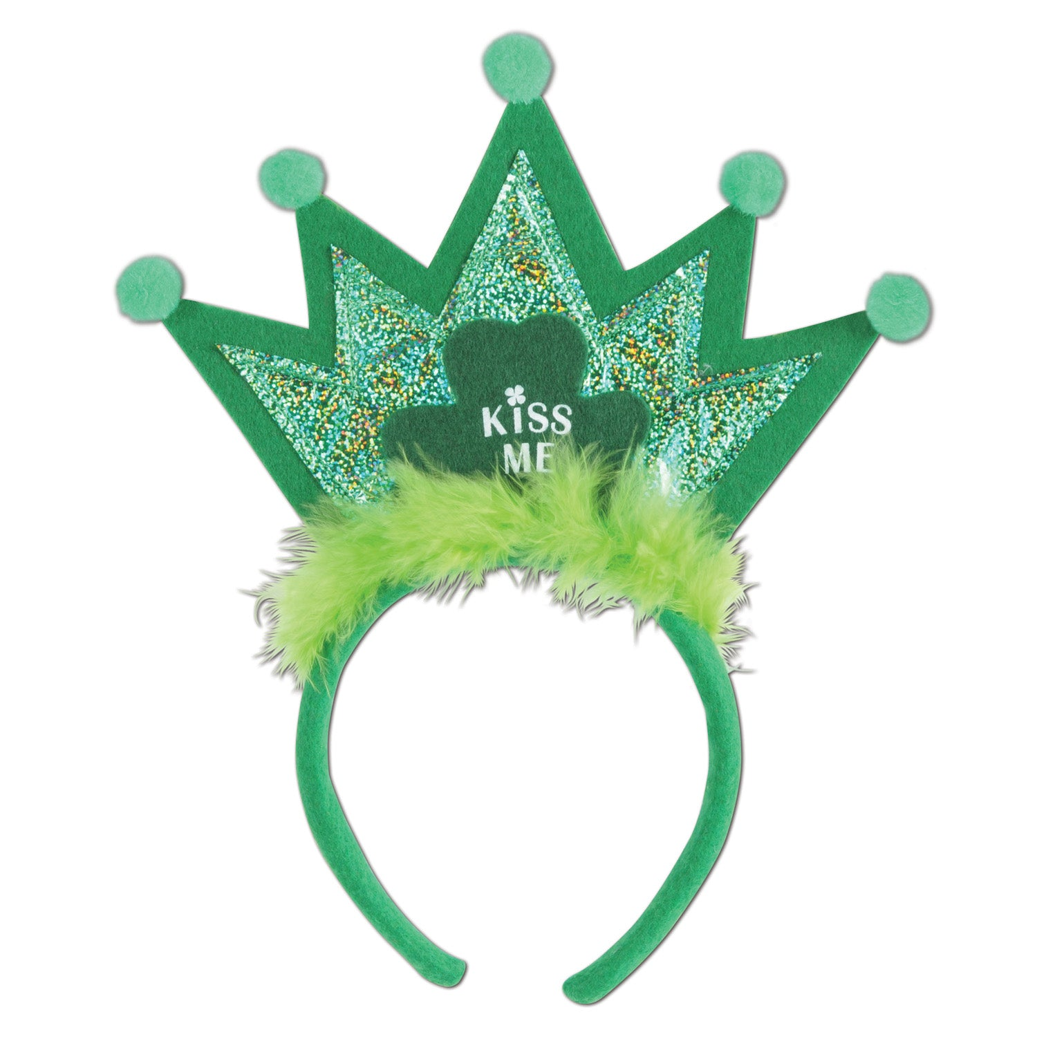 Shamrock Tiara Headband by Beistle - St. Patricks Day Theme Decorations