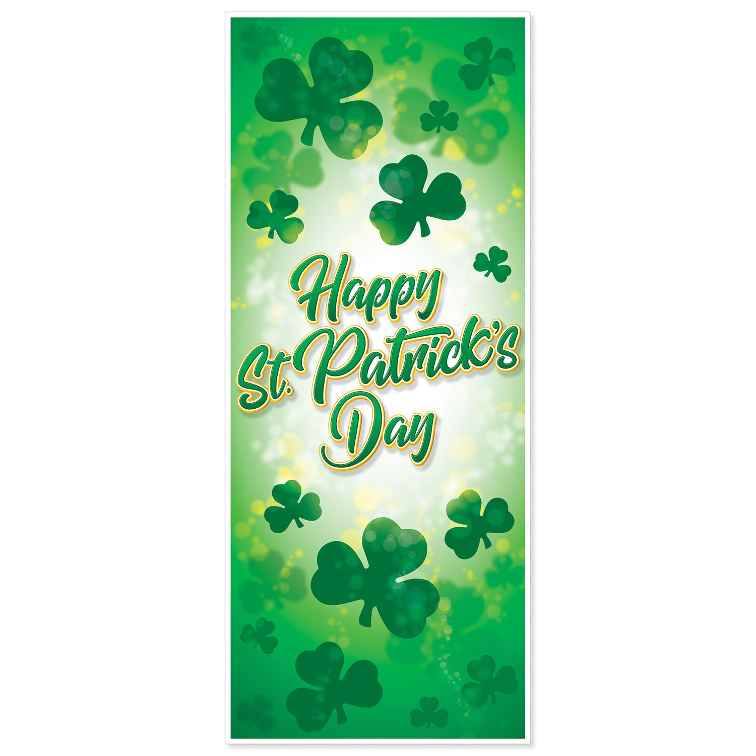 Happy St. Patrick's Day Door Cover by Beistle - St. Patricks Day Theme Decorations