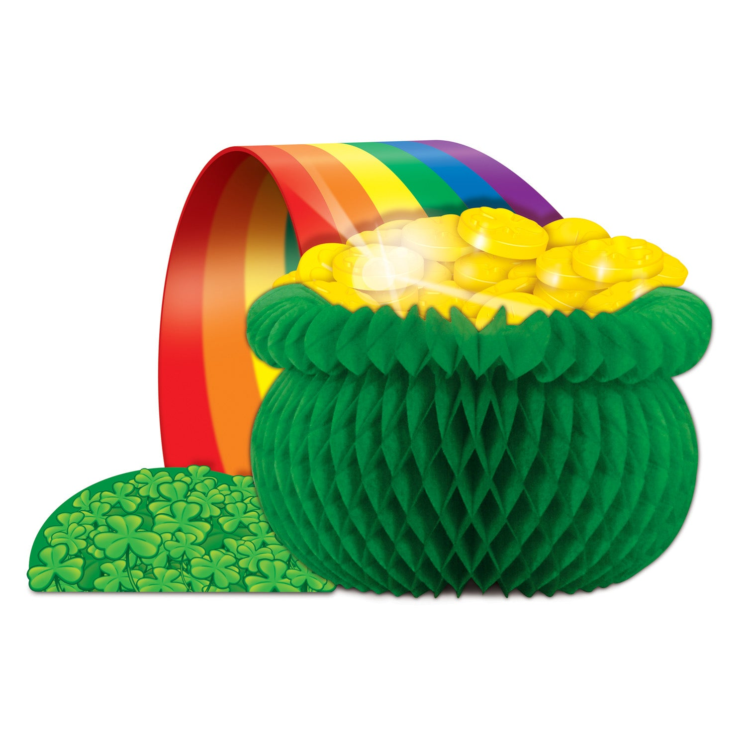 Pot O' Gold Centerpiece by Beistle - St. Patricks Day Theme Decorations