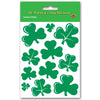 Shamrock Stickers (4 Shs/Pkg) by Beistle - St. Patricks Day Theme Decorations