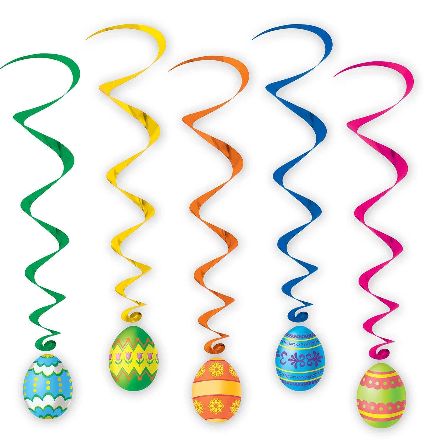 Easter Egg Whirls (5/Pkg) by Beistle - Easter Theme Decorations