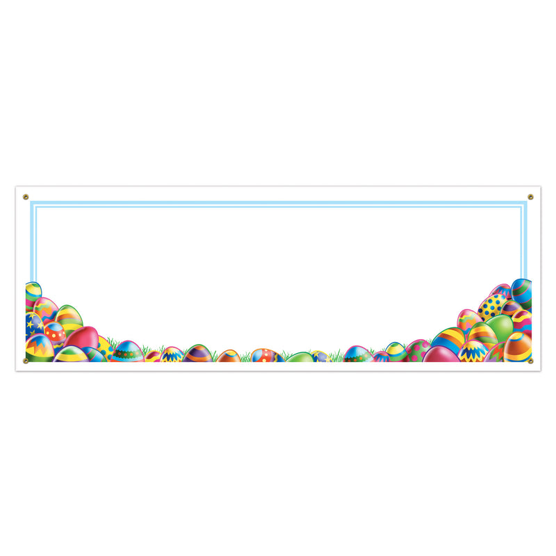 Easter Egg Hunt Sign Banner by Beistle - Easter Theme Decorations