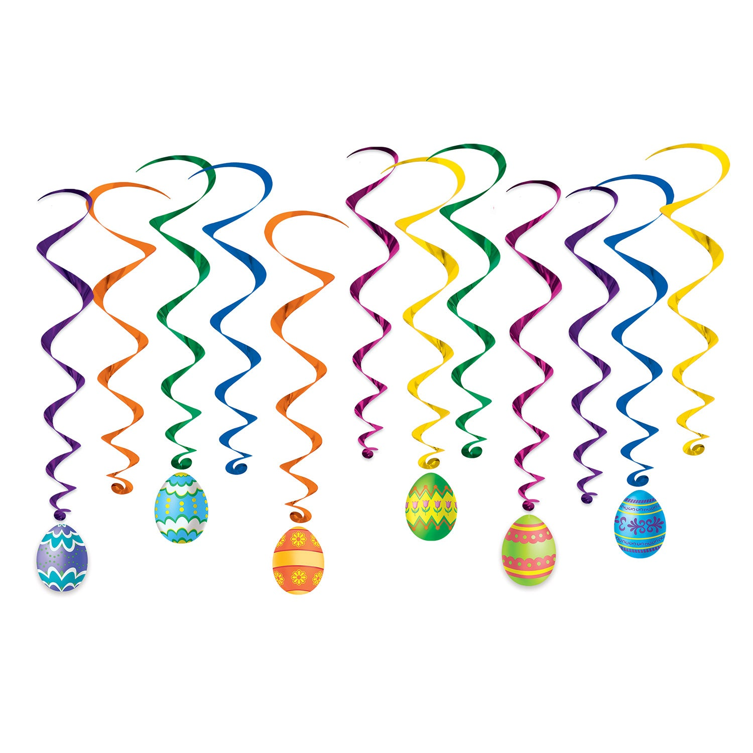 Easter Egg Whirls (12/Pkg) by Beistle - Easter Theme Decorations