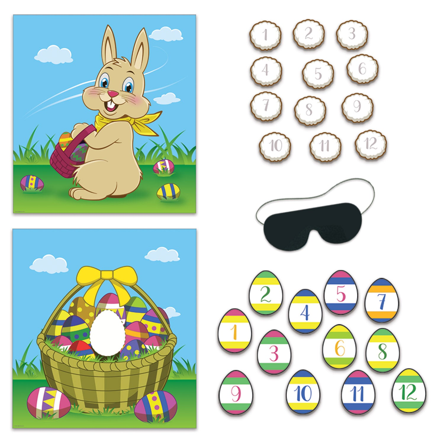 Easter Party Games (2/Pkg) by Beistle - Easter Theme Decorations