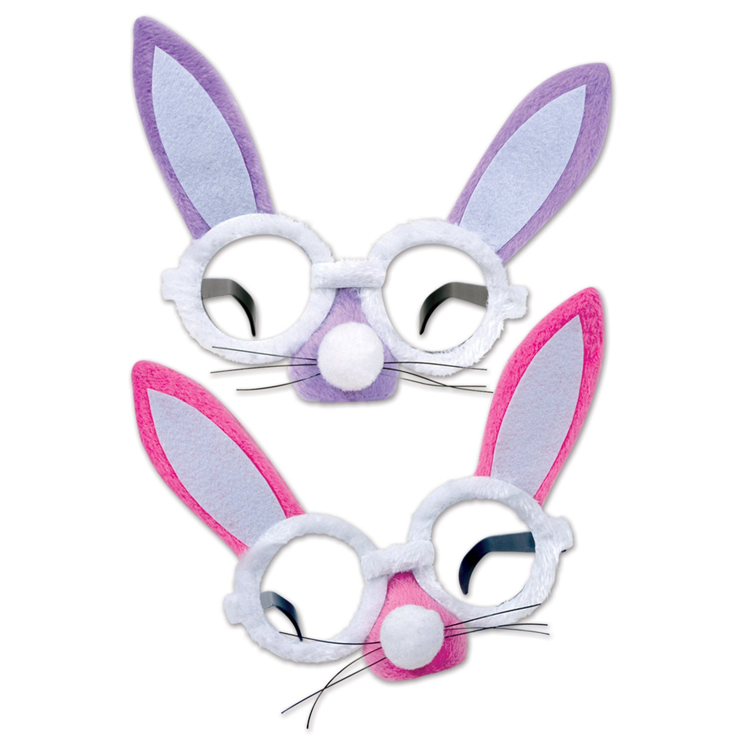 Plush Bunny Glasses by Beistle - Easter Theme Decorations
