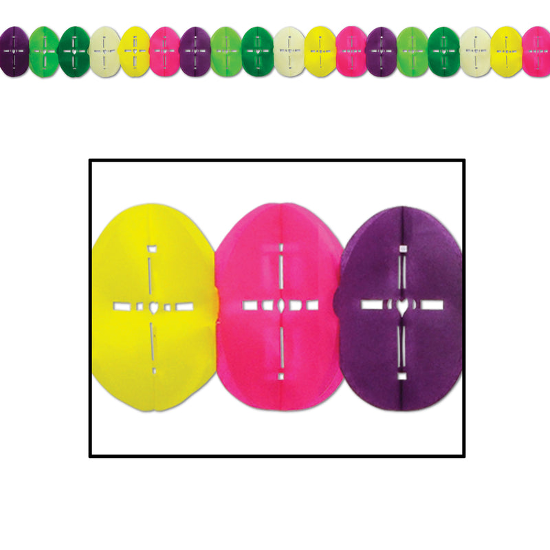 Easter Egg Garland by Beistle - Easter Theme Decorations