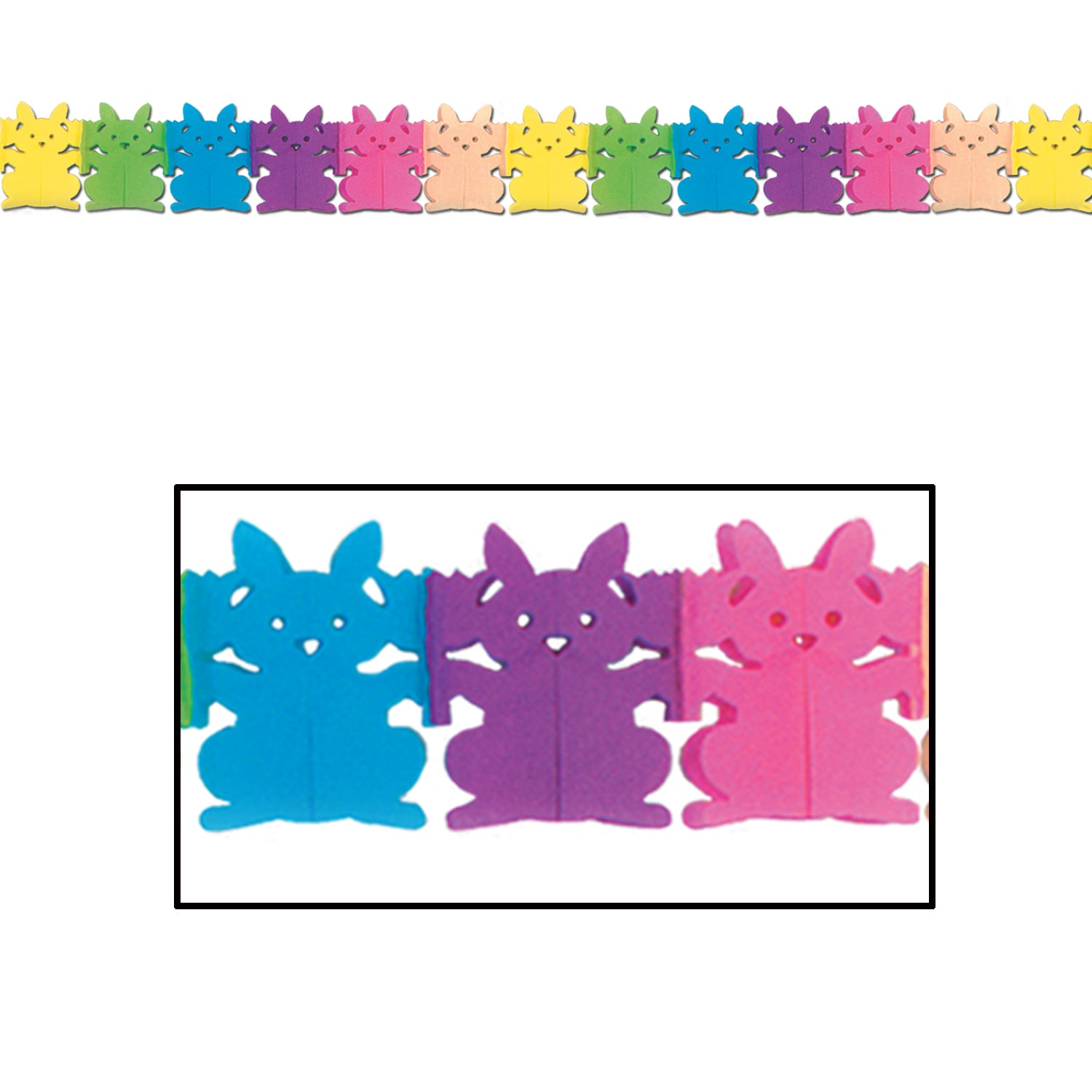 Bunny Garland by Beistle - Easter Theme Decorations
